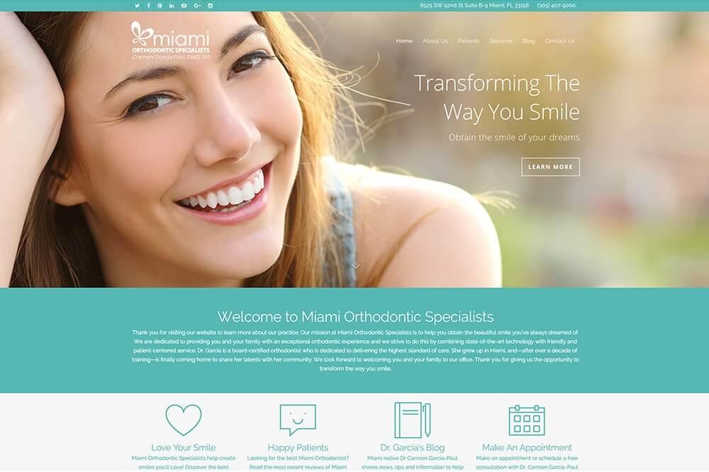 Diseño de páginas web elegantes para clínicas dentales